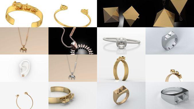 sahara modern jewelry collection 3d model stl 3dm 1