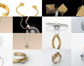 Sahara Modern Jewelry Collection 3D model