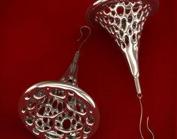 Voronoi Earrings 3D printable model