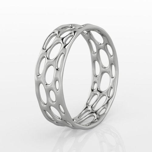 voronoi ring 3d model obj mtl 1