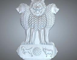 3D print model ashoka emblem of india