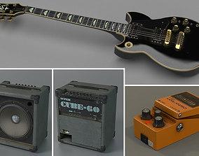 3D Guitar player combo