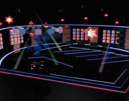 TV Studio Entertainment Set 9 3D model
