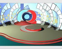 TV Studio Entertainment Set 8 3D