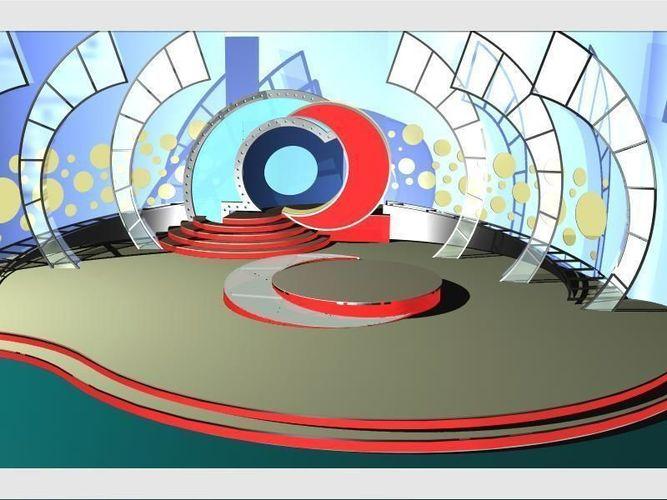 tv studio entertainment set 8 3d model max obj mtl 3ds fbx dxf dwg 1