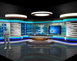 3D model TV Studio News Set 2