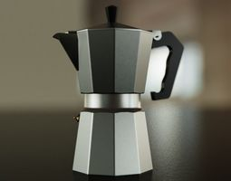 3D model Big Coffee Pot - Classic Design