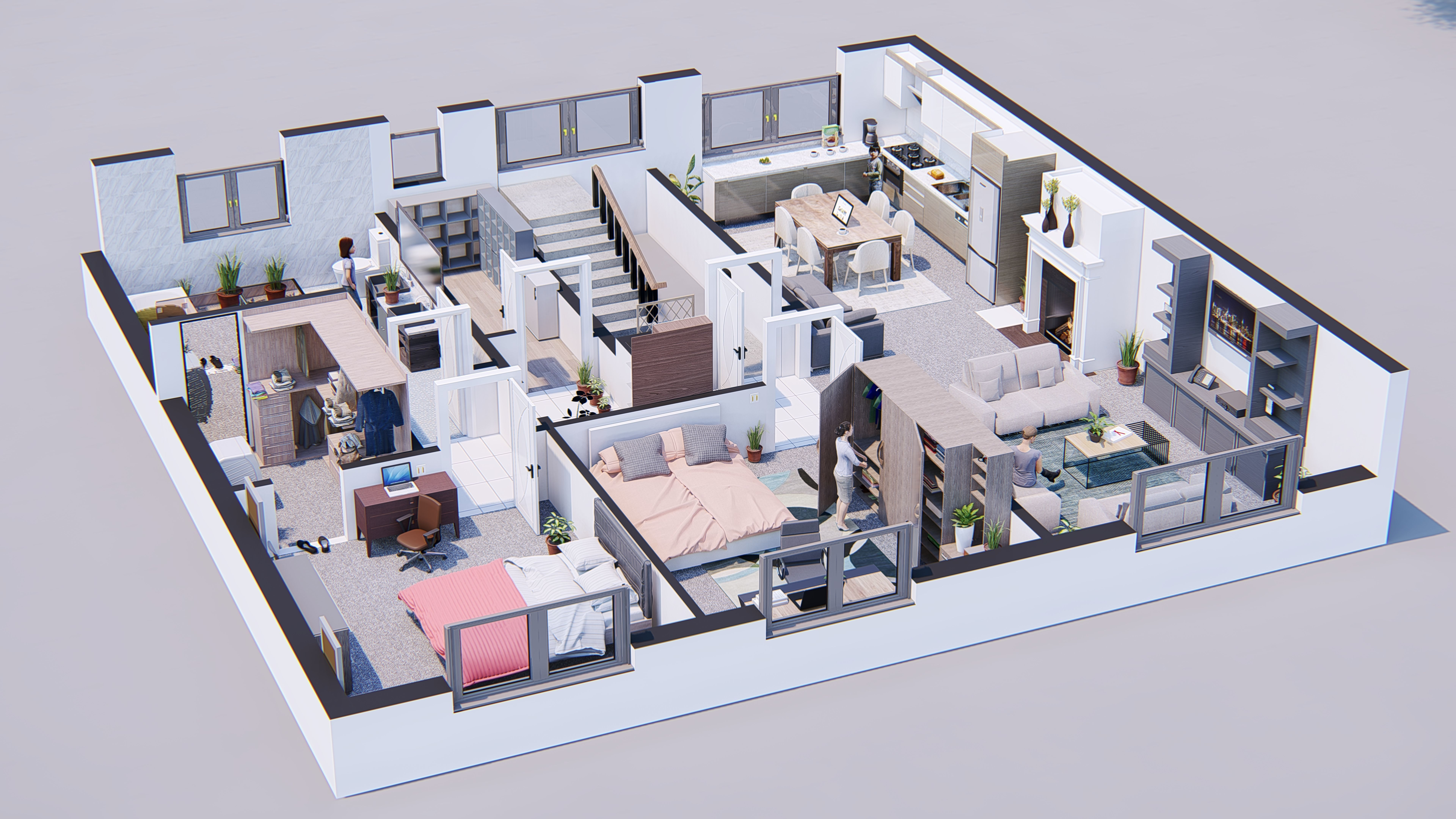lumion 8 full scene model with setting | 3D model