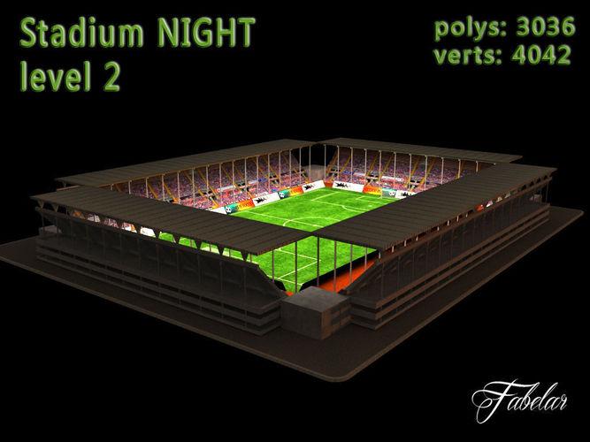 Stadium Level 2 Night3D model