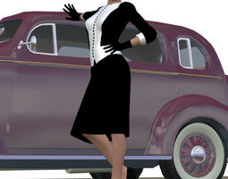 V4 Retro Outfit 3D Model