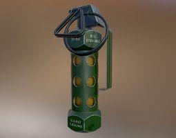 3D asset low-poly M84 stun grenade