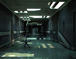 Hallway Damaged 3D model