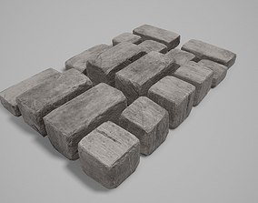 Stone Blocks 01 - Var01 4K-PBR 3D asset