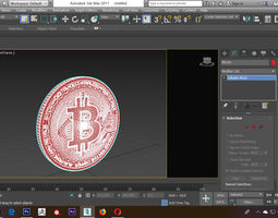 Bitcoin 3D print model