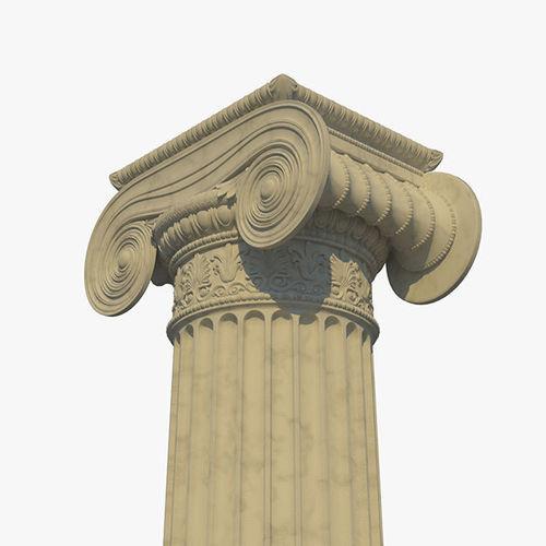 ionic column a 3d model obj mtl fbx lxo lxl 1