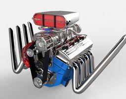 Blown V8 3D Model
