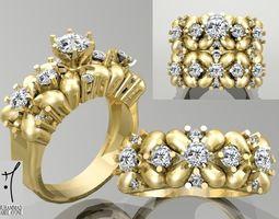 engagement finger Gold Ring 3D print model
