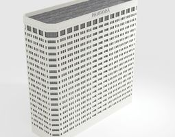 3D asset game-ready Pandora Media Building Low poly model