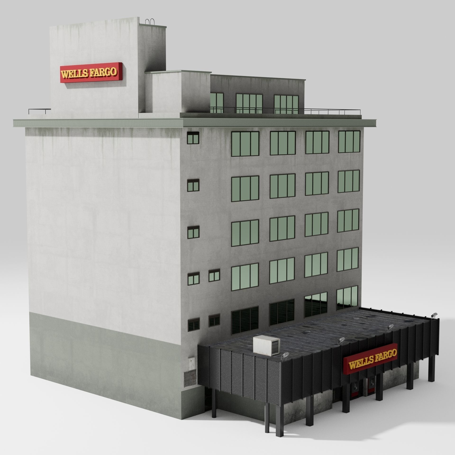 Wells Fargo American Furniture Payment: 3D Model Wells Fargo Bank