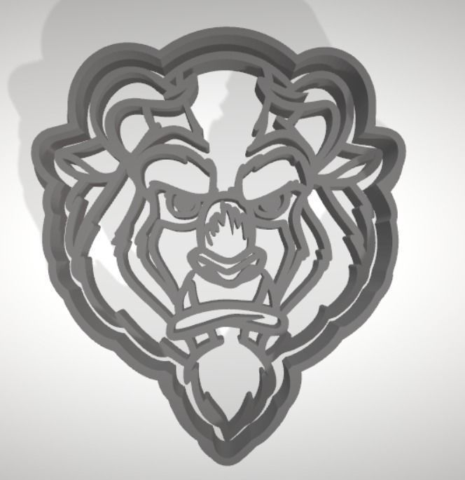 The Beast cookie cutter with intricate detail