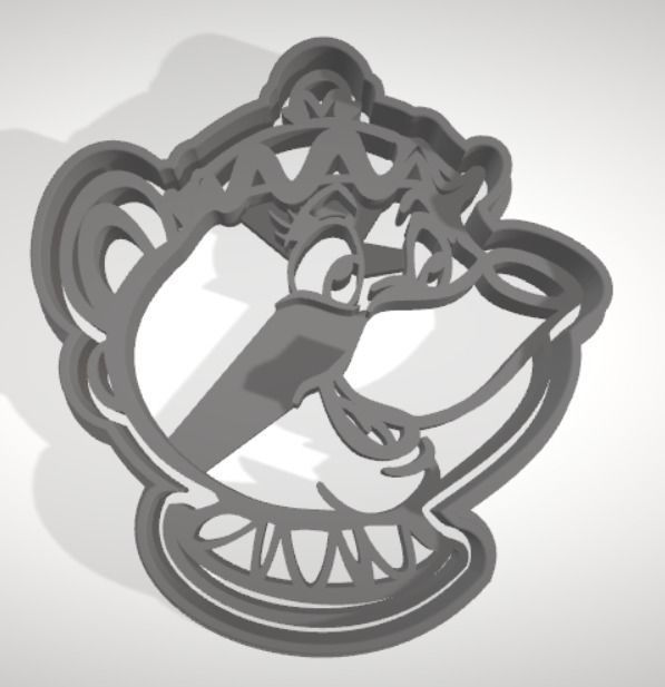 Mrs Potts cookie cutter with intricate detail