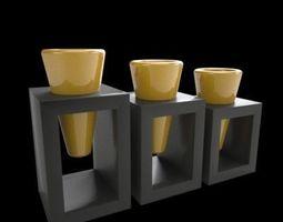 Three Vases 3D model