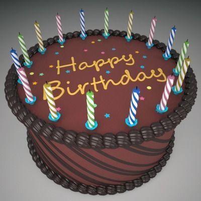 birthday cake 2 3d model max obj mtl 3ds c4d lwo lw lws ma mb 1