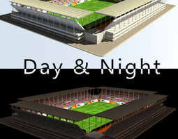 Stadium Level 2 Day-Night 3D asset