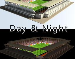 Stadium Level 2 Day-Night 3D Model