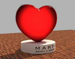 valentines day heart 3d model 3d model max