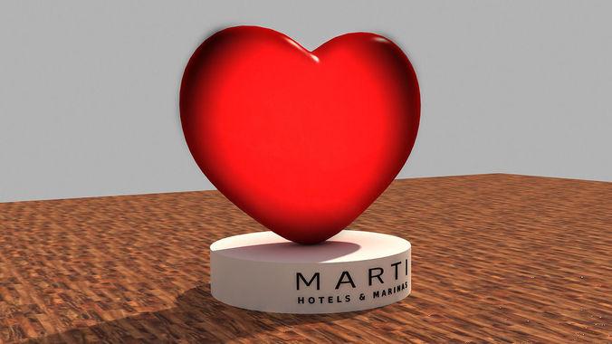 Valentines Day Heart 3D Model3D model