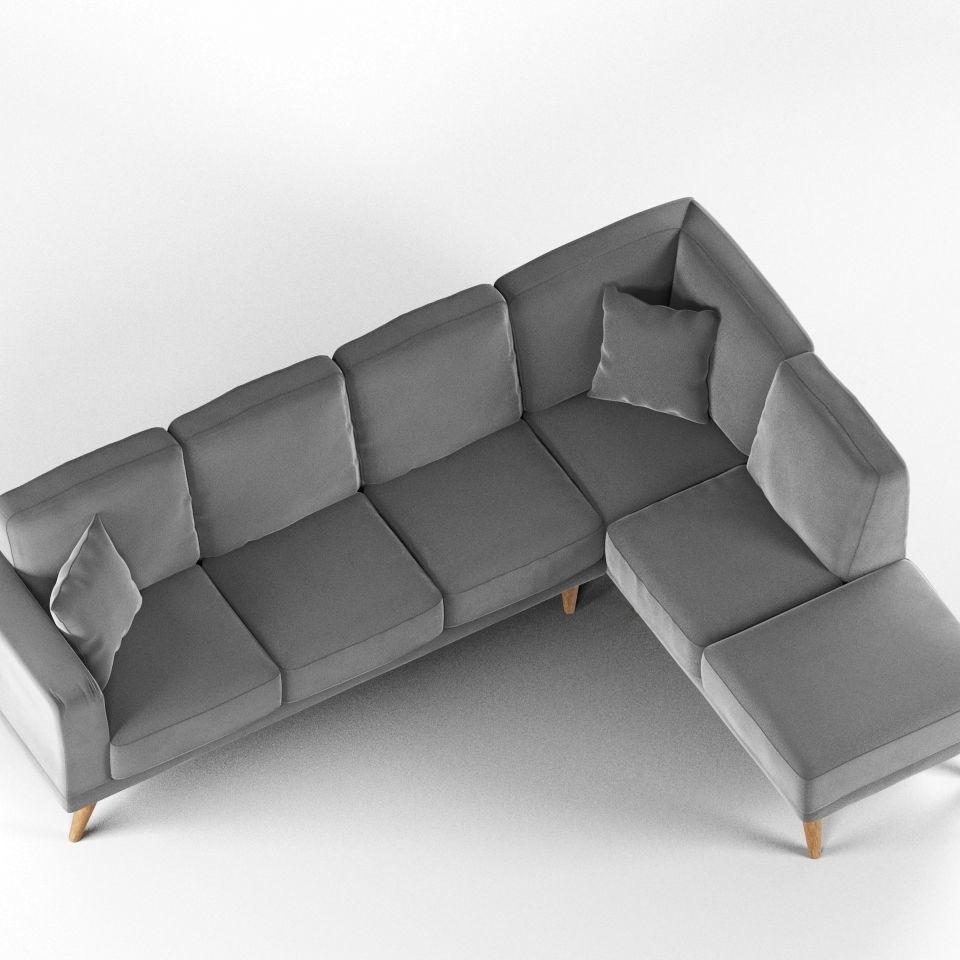 Modern L-Shaped Sofa | 3D model