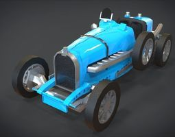 1929 Bugatti 35B 3D asset