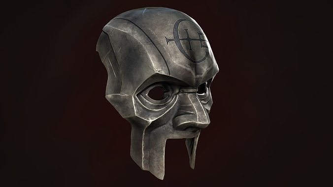 dishonored 2 abbey overseer mask 3d model fbx stl 1