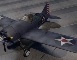 American WW2 Fighter Collection 01 3D model