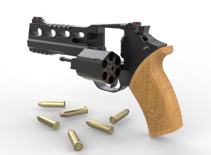 chiappa rhino 60ds revolver 3d model obj mtl fbx stl sldprt sldasm slddrw ige igs iges stp 1