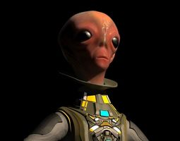 3D model Alien big eyed ET