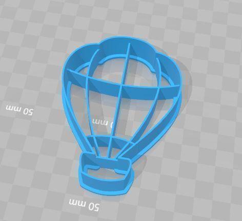 Hot Air Balloon Cookie Cutter 3D Printed
