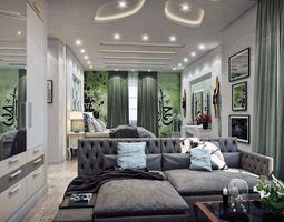 3D model modern Master Bedroom
