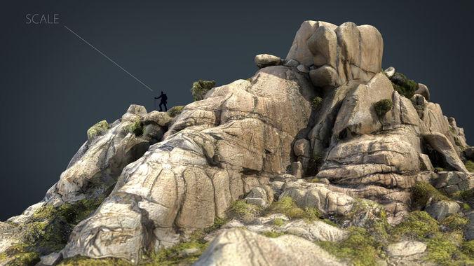 mountain rocks 5 3d model max obj mtl fbx ma mb 1