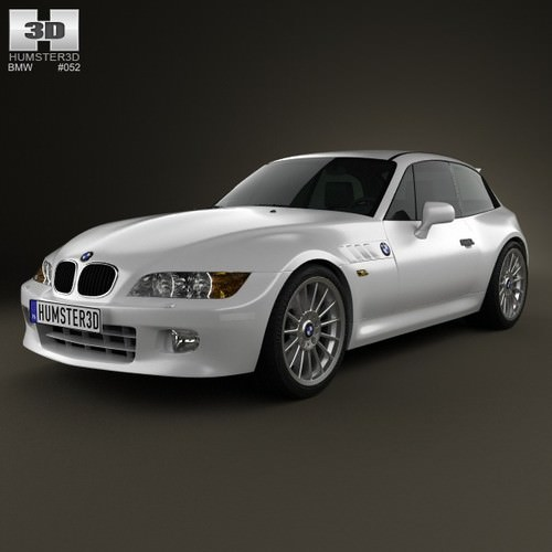 Bmw Z Coupe: BMW Z3 Coupe E36 8 1999 3D Model MAX OBJ 3DS FBX C4D LWO
