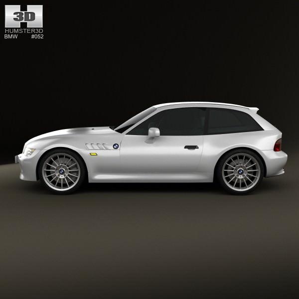 Bmw Z3 Cabriolet: BMW Z3 Coupe E36 8 1999 3D Model .max .obj .3ds .fbx .c4d