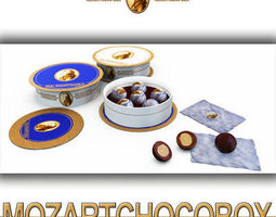 Mozart Chocolate Balls Box MozartKugeln 3D Model