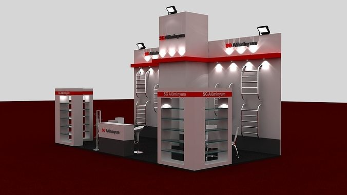 Exhibition Stand Industrial : Sg exhibition stand d model max