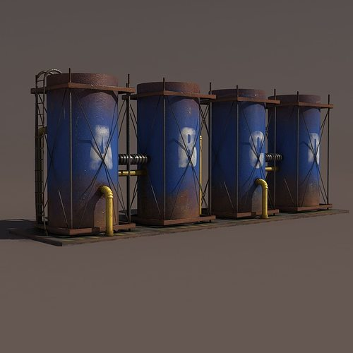 old tanks factory 3d model max obj mtl 3ds lwo lw lws hrc xsi blend 1