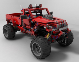 Lego car jeep 3D Model