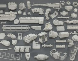 3D Kit bash - 53 pieces - collection-14 pinion