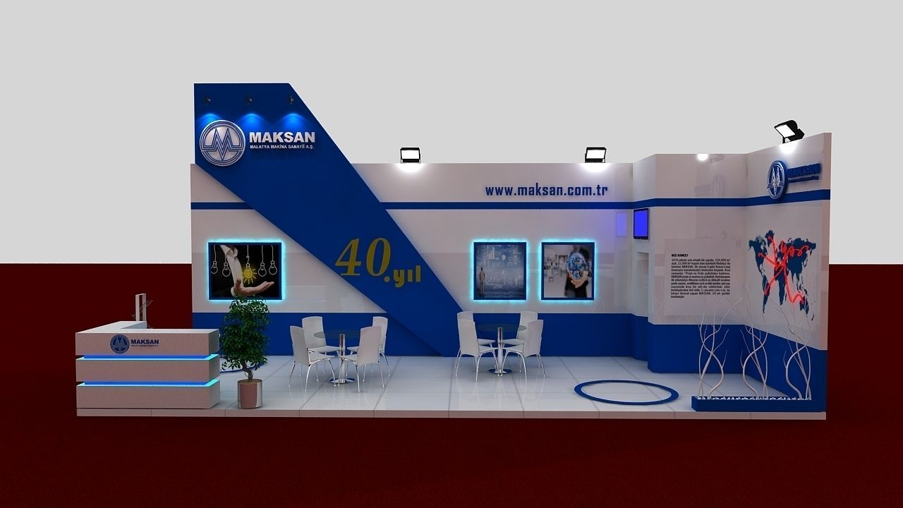 D Model Of Exhibition : Mak exhibit fair stand d model max cgtrader