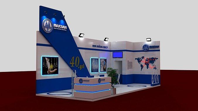 mak exhibit fair stand 3d model max 1