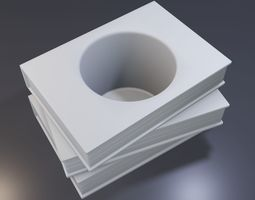 3D print model Three books with a hole